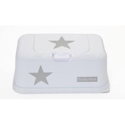 Funky Box FB09 Funkybox - Cajita para toallitas húmedas, color blanco con diseño estrella