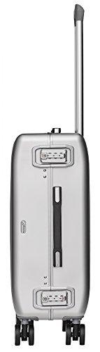 Packenger Alu Reisekoffer mit 68 Liter Fassungsvermögen in der Farbe Silber, 61x46x25cm, Zwei TSA Schlösser - 3