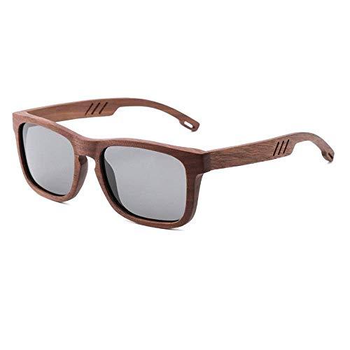 UV400 polarisierte Holz Sonnenbrille/handgemachte Brille für Mann/Black Walnut Linsen, als Geschenke für Freunde und Verwandte
