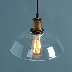 Nostralux® Modern Industrial Retro Style Glass Pendant Lamp Ceiling Lights E27 - Transparent/Amber from Nostralux