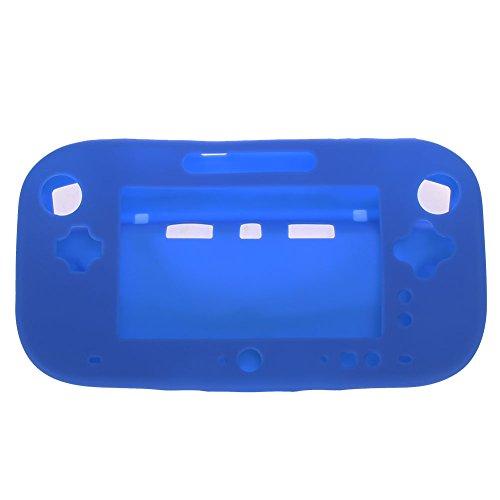 Demiawaking Gomma Morbida in Silicone Custodia Copertura Cassa Pelle della Silicone Protezione Protetto Preteggere per Console di Videogiochi Game Controller Gioco Maniglia Controllo per Nintendo Wii U 3Colori (blu)
