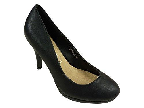 Chaussures femmes, escarpins à plateau et bout rond