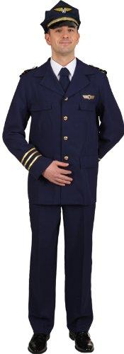 Kostüm Flugkapitän - Flugkapitän Herren Kostüm als Pilot zu Karneval Fasching Gr.50/52