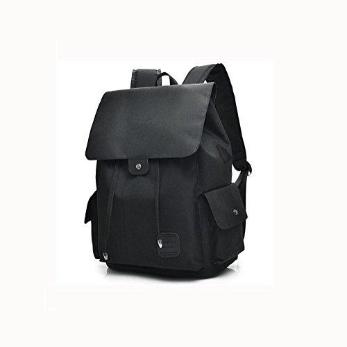 16 Hafen-faser (Backpack Laptop Rucksack 16 Zoll Mit USB aufladen Hafen , Black)