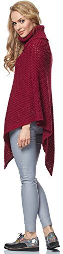 Merry Style Damen Poncho MSSE0020 Weinrot