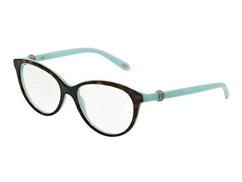 Tiffany & Co., monturas armazones de gafas anteojos 2113 para mujer, color negro, 52 mm 8134: Tortoise / Blue