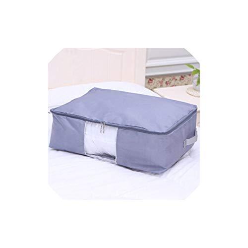 Quilt-Speicher-Beutel Gepäck Taschen Home Storage Organisieren Wasserdichtes Garderobe Kleideraufbewahrung Taschen, 60X50X28Cm, Hellgrau -