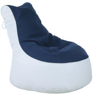 Sitzsack Lotos-Genua Farbe (Genua): Blau, Farbe (Lotos): Weiß