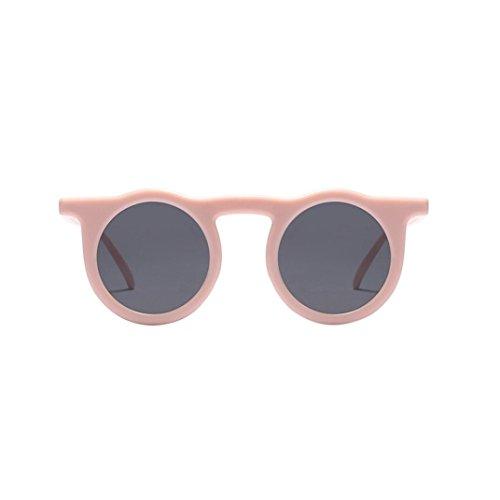 Dragon868 Frauen Herren Vintage Round Frame Sonnenbrille Brillenmode,Gewöhnliche Gläser Retro Mode Unisex Brillen (E)