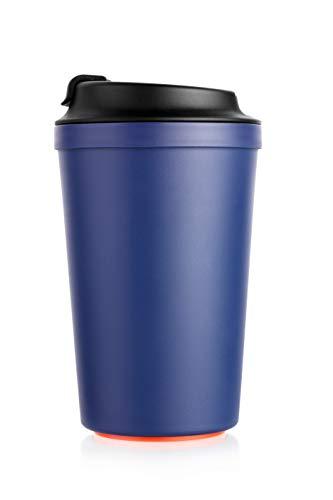 Neuheit! Coffee to Go Becher mit Magic Grip Pad. Der Becher lässt Sich Nicht umkippen Aber gerade nach Oben ganz leicht anheben. Lebensmittelecht, BPA Frei, 340 ml, in Verschiedenen Farben – Designs