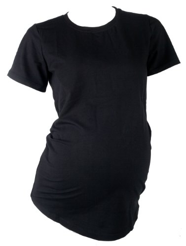 Mountain Mama Damen Half Moon Schwangerschafts-Baumwolle/Lycra Tee schwarz