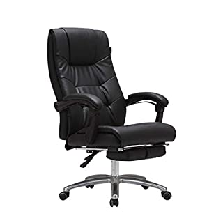 Boss chair office chair 170 degree reclining with footstool and rocking chair function executive chair black