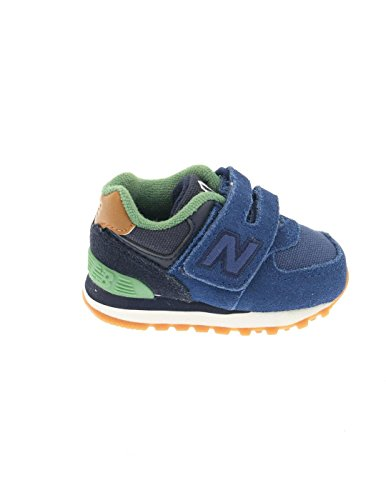 New Balance Trainers - New Balance Infant 574 Velcro Trainers - Blue/Green Blu