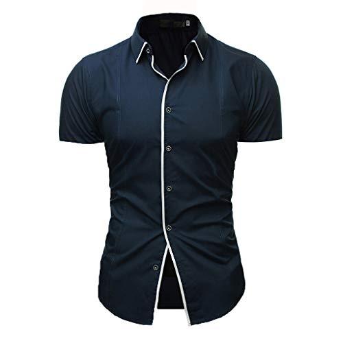 UFACE Herren Business Hemd Regular fit für Freizeit Hochzeit Reine Farbe Hemden Langarmhemd
