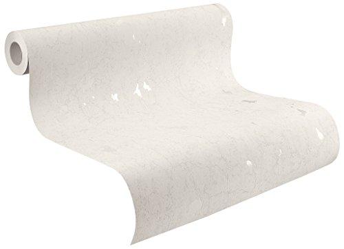 Rasch Tapeten 860009 Vlies-Tapete, Beton-Optik in weiß