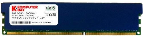 Komputerbay 8GB DDR3 PC3-12800 1600MHz DIMM blu con profilo basso