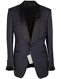 CL - TOM FORD O'Connor Midnight Blue Shawl Collar Tuxedo Smoking Suit Size 46 / 36R U.S. Fit Y
