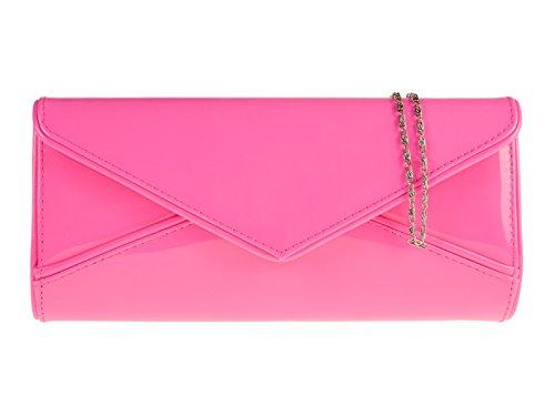 fi9® , Damen Clutch Fuchsia Pink