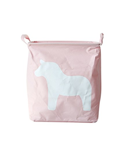 Yoocang Folding Einfach Wäscheeimer Wäschekorb Wäschesack Ablagekorb Lagerfässer Haushalt Wäscherei Storage Basket (Pink,25*35*40cm)