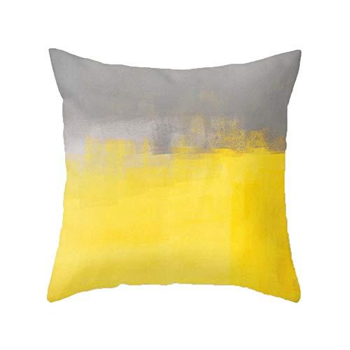 Cojines amarillos y grises para decorar