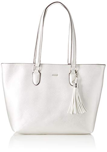 Tamaris Damen Maxima Shopping Bag Henkeltasche, Silber (Silver), 12x29.5x44 cm