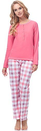 Merry Style Damen Schlafanzug 2112 (Aprikose, L)