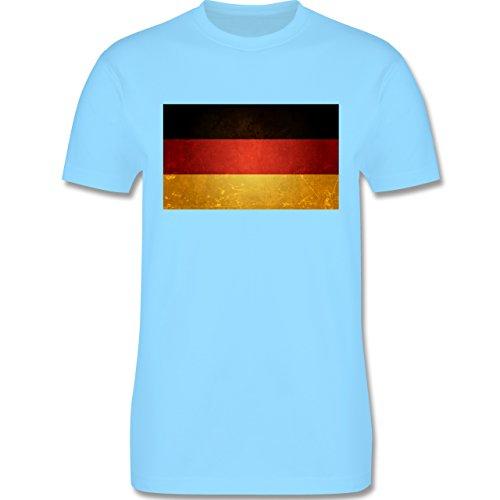EM 2016 - Frankreich - Flagge Deutschland - Herren Premium T-Shirt Hellblau