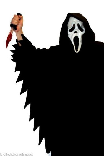 Scream Ghost Face Scary Movie TV-Kostüm Halloween Horror (Movie Halloween Kostüme Horror)