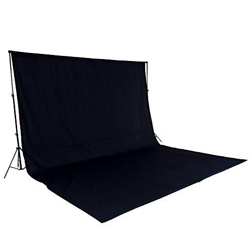 tectake-toile-tissu-de-fond-accessoires-materiel-studio-photo-kit-photographie-6-x-3-m-noir-support-