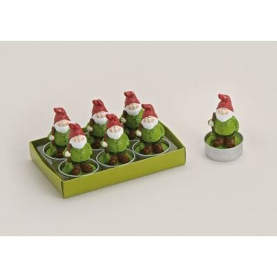 Teelicht lustiger Gartenzwerg 6-er Set -5017834-