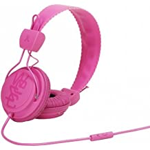 WeSC WESC7001750 Matte Conga - Auriculares supraurales (incluye adaptador para teléfonos Sony Ericsson y Nokia), color rosa