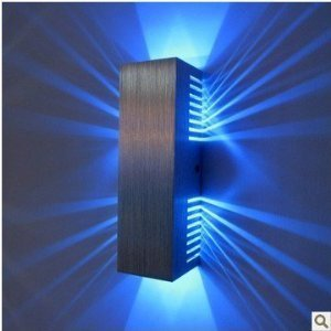 AC85v ~ 265V, 2 * 1W stage light modern rectangular LED wall lights, living room bedroom hallway night light, led wall lamp with diffused light design 2 Cubic Shades