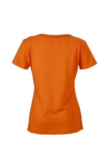 JAMES & NICHOLSON T-shirt Ladies Urban - T-shirt de Maternité - Femme Orange (Orange)