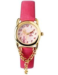 Barbie B701 - Reloj analógico para niña de plástico rosa