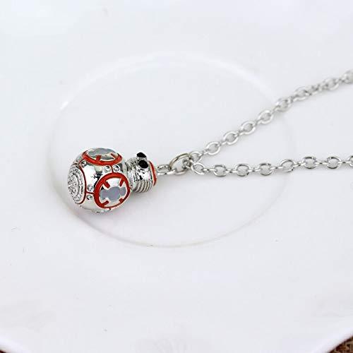 Frauen Männer Fashion Schmuck Star Wars Halskette Bb8 Bb-8 R2d2 Droid Robot Halskette Halskette Chain Chain Chake Chake Collares