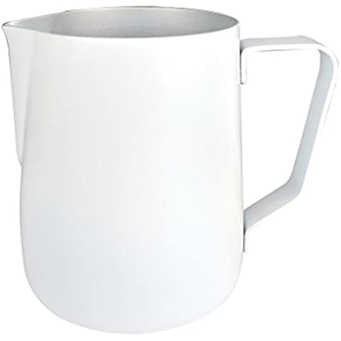 MING 601ML Non-stick Stainless Steel Latte Espresso Cappuccino Milk Jug Frothing Pitcher - White by (Espresso Latte Art)