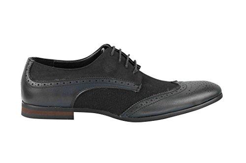 Xposed - Zapatos Con Cordones Para Hombres Negros
