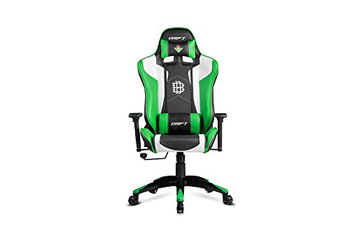 Drift Real Betis – Silla de oficina gaming, color negro y verde