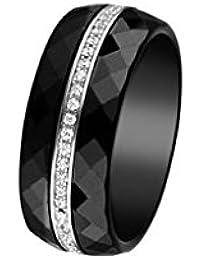 Ceramic Prestige Ring Sterlingsilber 925 Zirkonia B201BA