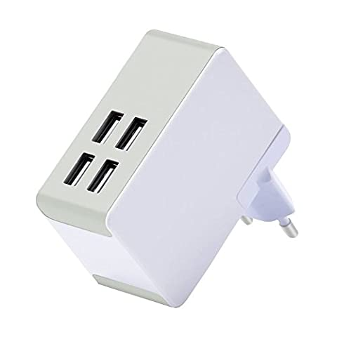 Top-Longer Chargeur Secteur 4 Ports USB Universel Chargeur Mural(40 W/8