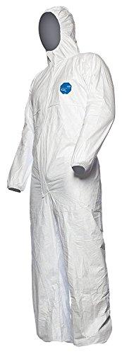 25 Stk. DuPont Tyvek 500 Xpert Chemikalienschutzkleidung mit Kapuze, KategorieII, Typ 5-B und 6-B Robust und Leicht Weiß Größe XXXL -