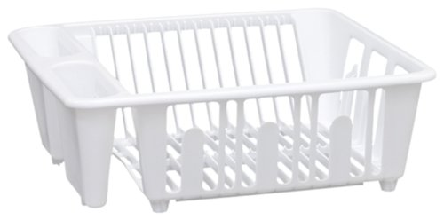 United Lösungen SK0001weiß Kunststoff Waschbecken und Küche Dish Rack–Mini Kunststoff Küche Rack in Weiß (Dish Rack Mini)