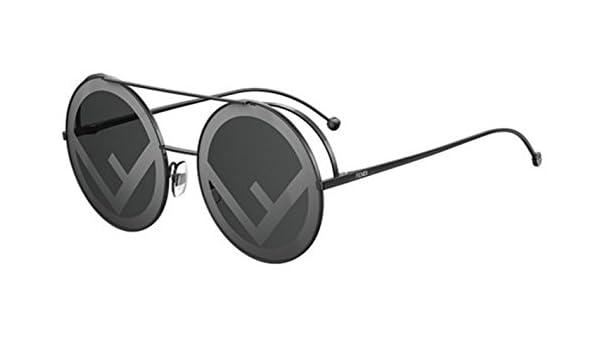 3faa275667 New Fendi RUN AWAY FF 0285 S 807 MD black grey Sunglasses  Amazon.co.uk   Clothing