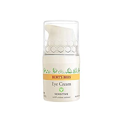 Burt's Bees 98.9% Natural Hydrating Daily Eye Cream Tube, Sensitive Formula, 10 g
