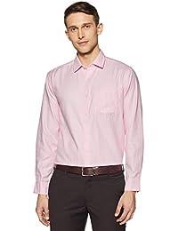 Amazon Brand - Symbol Men's Formal Herringbone Regular Fit Shirt