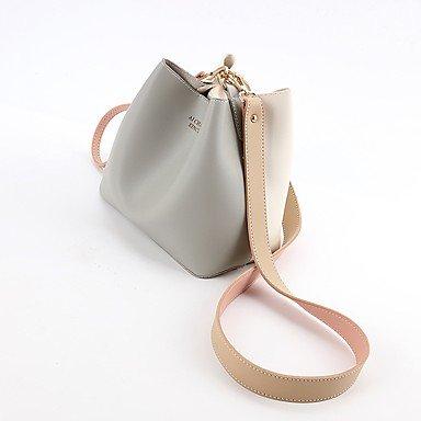 Damenmode PU Leder Schulter Messenger Crossbody Mini Bag Gray