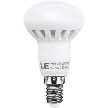 LE 6W R50 E14 LED Lampen, Ersatz für 45W Glühlampen, E14, 480lm, Warmweiß, 2700K, 120° Abstrahlwinkel, LED Reflektorlampen, LED Birnen, LED Leuchtmittel