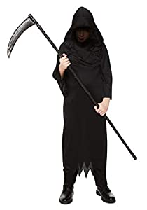 Karnival Costumes- Halloween Black Phantom Disfraz, Color negro, extra-large (84564)