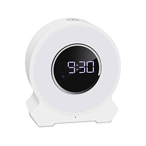 Bluetooth Audio Wake Up Light 7 Color FM Radio Multi Touch Snooze Funktion Light Smart Wecker USB Analoge Natürliche Sound Sunset Photo Therapy Lampe Verblasst