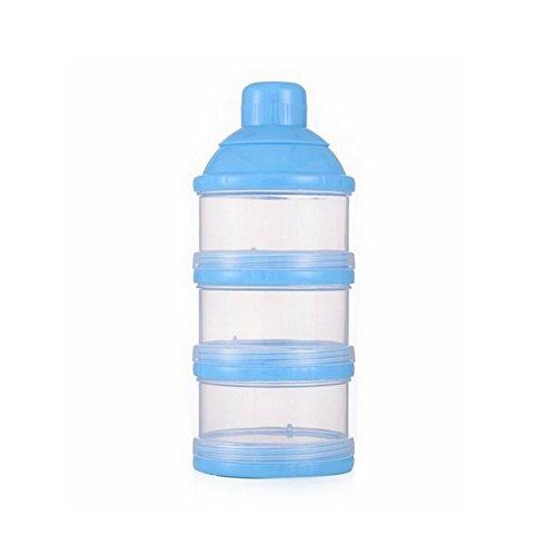 LeisialTM 3 Schichten Milchpulver Portionierer Baby reisen Milchpulverbox Abnehmbare Milchpulverbox Blau 17*7*4.2CM